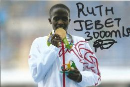 Olympics Ruth Jebet signed 6x4 signed colour photo of the Gold Medallist in the 3000 meters