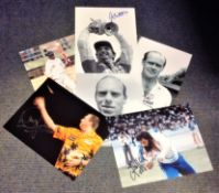 Sport Icon collection 6 signed assorted photos from some legendary names such as Geoff Capes,