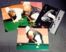 Snooker collection 4, 12x8 signed colour photos includes Willie Thorne, John Virgo, Terry