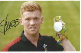 Olympics Sam Cross signed 6x4 colour photo of the Olympic Silver Medallist in the Rugby Sevens Event