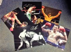 Boxing Collection 5 signed assorted photos from some legendary names of the British ring includes