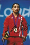Olympics Om Yun Chol signed 6x4 colour photo of the silver medallist in the 56kg Weightlifting Event