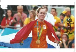 Olympics Anna Van Der Breggen signed 6x4 colour photo of the Olympic Gold and Bronze medallist in