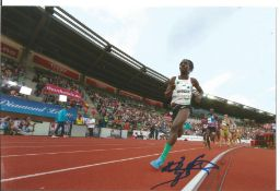 Olympics Francine Niyonsaba signed 6x4 colour photo of the Silver Medallist in the Athletics 800m