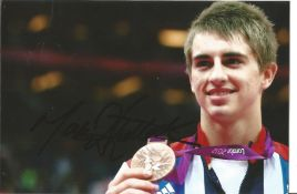 Olympics Max Whitlock signed 6x4 colour photo of the Gold and triple Bronze medallist in