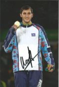 Olympics Radik Isayev signed 6x4 colour photo of the Gold Medallist in the 80kg Taekwondo event at