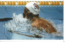 Olympics David Wilkie signed 6x4 colour photo of the Gold and Silver Medallist in the Swimming