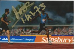 Olympics Nijel Amos signed 6x4 colour photo of the Silver Medallist in the 800m Athletics event at