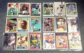 American Football collection 162 unsigned trading picture cards of some of the greats of the NFL.
