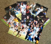 Football Leeds United collection 9 fantastic 12x8 colour photos from players that have all played