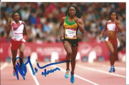 Olympics Novlene Williams Mills signed 6x4 colour photo of the triple Silver Medallist and Bronze