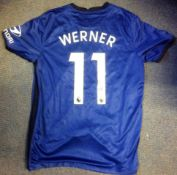 Football Timo Werner signed Chelsea F. C replica home shirt. Timo Werner is a German professional
