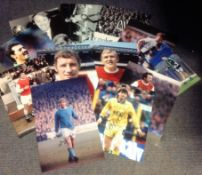 Football Legends collection 12 signed assorted photos from some great names of the British game