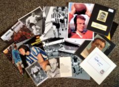Football Legends collection 14 items includes photos, signature pieces and mounted displays