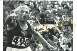 Olympics Galina Zybina signed 6x4 black and white photo of the Gold Silver and Bronze Winner in