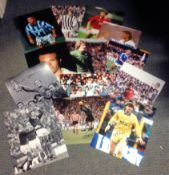 Football Legends collection 14 signed assorted photos from some great names of the British game