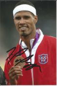 Olympics Javier Coulson signed 6x4 colour photo of the Bronze medallist in the 400m Hurdles event at