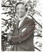 Gale Sondergaard signed 10x8 black and white photo. Few marks to photo. Good condition. All