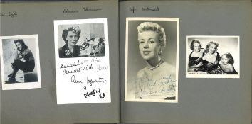 Vintage photo album containing 20+ photos. Some of signatures included are Noelle Middleton,