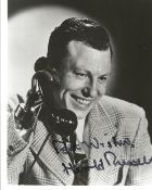 Harold Russell signed 10x8 black and white photo. Good condition. All autographs come with a