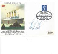 Titanic Robert Ballard signed 1982 RMS Titanic Maritime England cover. Good condition. All