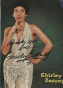Shirley Bassey signed 7 x 5 inch vintage colour promo photo. Good condition. All autographs come