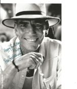 Pete Postlethwaite signed 7x5 black and white photo. Good condition. All autographs come with a