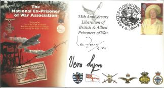 Vera Lynn and Ian Fraser VC signed 2000, Ex Prisoner of War cover. Good condition. All autographs