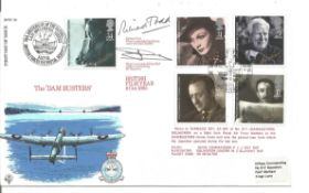 Richard Todd signed official 1985 Films RAF FDC comm. The Dambuster Raid, he played Gur Gibson in