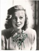 June Alyson signed 10x8 black and white photo. Good condition. All autographs come with a