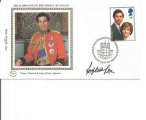 Sophia Loren signed 1981 Benham Royal Wedding Small silk FDC. Good condition. All autographs come