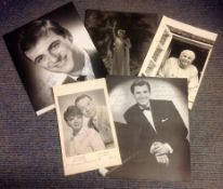 Entertainment collection 5 assorted signed black and white photos names include Roy Hudd, Russ