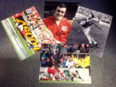 Rugby Legends collection 4 fantastic, signed photos from includes great name such as Phil Bennett,