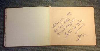 Entertainment 1940s Autograph Book of Rosanna Quayle daughter of Anthony Quayle includes legendary