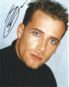 "Jason ""J"" Brown original band member from pop group Five, signed 8x10 colour photograph. Good"