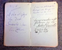 Vintage 1910-1940s Autograph Book Entertainment and Sport over 250 signatures includes Aubrey Smith,