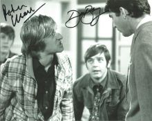 Peter Cleall and Dave Barry , Fenn Street Gang signed b/w 8x10 photograph. Good Condition. All
