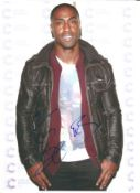 Simon Webbe from pop band Blue, signed 8x10 colour photograph. Good Condition. All autographs come