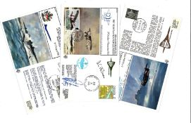 Concorde FDC collection includes 3 signed flown covers includes 40th Anniversary of the First UK