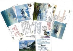 RAF FDC collection includes 5 first flight Covers signed by VIP includes 60th Anniversary of the