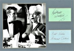 Barbera Windsor and Bernard Cribbins 12x10 mounted signature piece includes 2 signed album pages and
