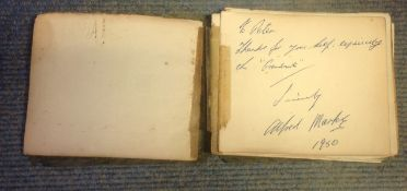 Vintage 1940-50s Autograph Book over 50 fantastic signatures from some legends of stage and screen