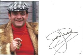 David Jason signature piece includes signed white card and a 7x5 colour photo pictured as Del Boy