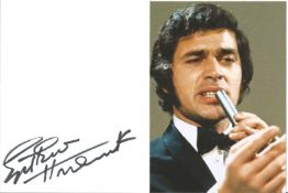 Englebert Humperdinck Singer Signed Page With Photo. Condition 8/10. Good Condition. All