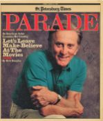 Kirk Douglas signed 1987 Newspaper featuring him on front. Condition 8/10. Good Condition. All