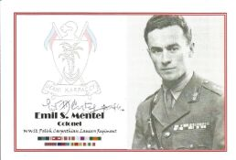 WW2 Emil S Mentel signed 6x4 black and white photo. Good Condition. All autographs come with a