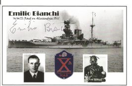 WW2 Emilio Bianchi signed 6x4 black and white photo. Good Condition. All autographs come with a