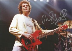 John Illsley Dire Straits Guitarist Signed 8x12 Photo. Condition 8/10. Good Condition. All