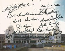 Sport Wembley Legends multiple signed 10 x 8 inch Wembley Stadium colour photo. Signed by 14. Good