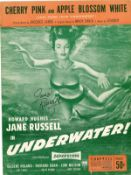 Jane Russell signed Words and Music brochure for Underwater. Condition 6/10. Good Condition. All